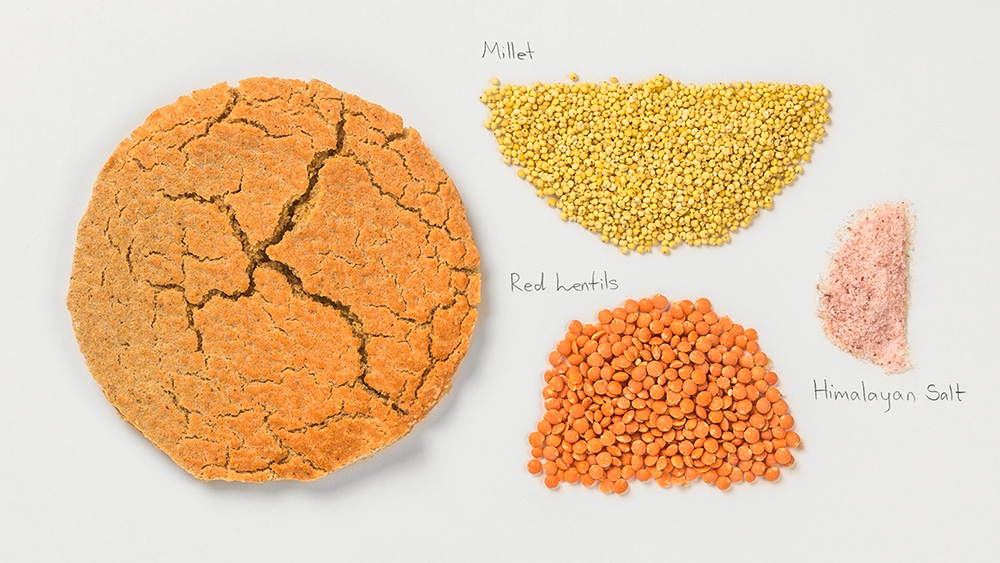 Red lentils-Millet indredients