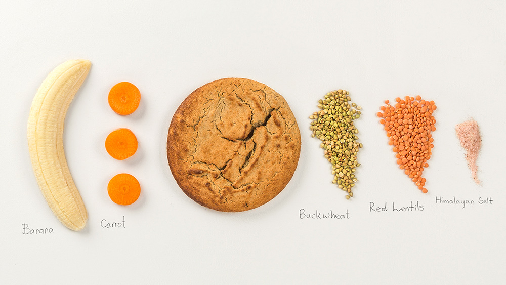Buckwheat-Banana-Red lentils-Carrot Ingredients