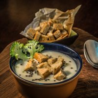 Soup With Munbat Croutons